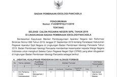 Badan Pembinaan Ideologi Pancasila Sediakan 60 Formasi untuk CPNS 2019, Ini Perinciannya
