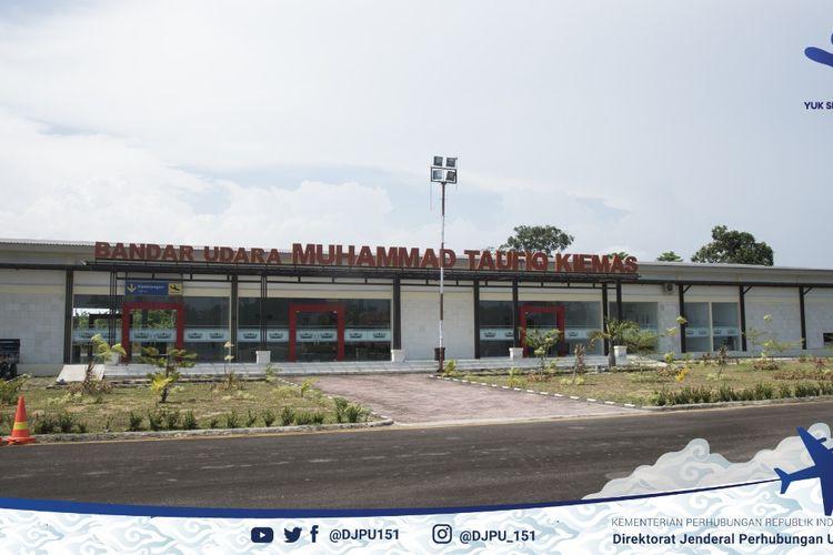 Suasana di Bandara Muhammad Taufik Kiemas pada Sabtu (10/4/2021).