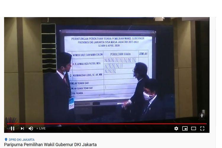 Penghitungan suara pemilihan wagub DKI