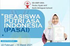 Beasiswa PASAI Aceh, Khusus Sekolah Asrama Putri Jenjang SMP dan SMA