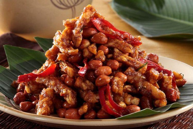 Ilustrasi sambal goreng tempe kering kacang ala Sajian Sedap.