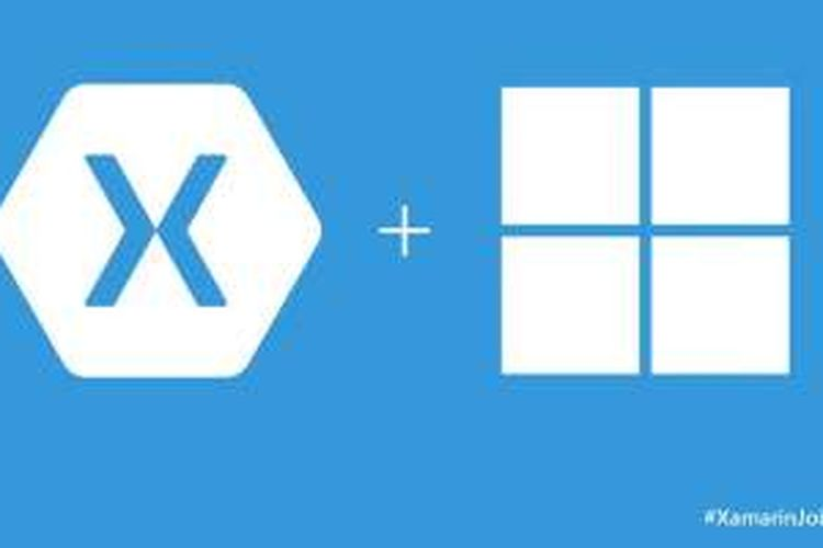 Logo Xamarin dan Microsoft Windows.