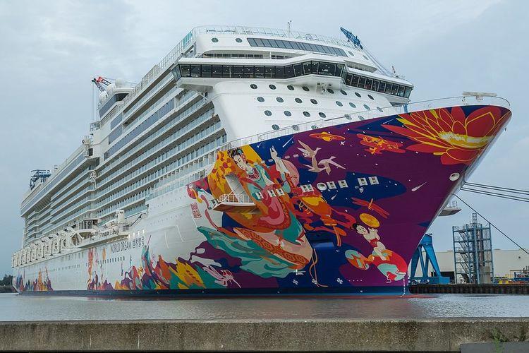 Ilustrasi kapal pesiar World Dream dari Dream Cruise.
