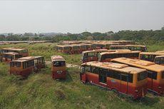 300 Bus Berlabel Transjakarta yang Terbengkalai di Bogor Milik Perusahaan Pailit