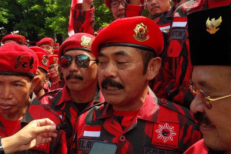 Ketua DPC PDI-P Kota Surakarta, FX Hadi Rudyatmo di Benteng Vastenburg Solo, Jawa Tengah, Minggu (8/3/2020).