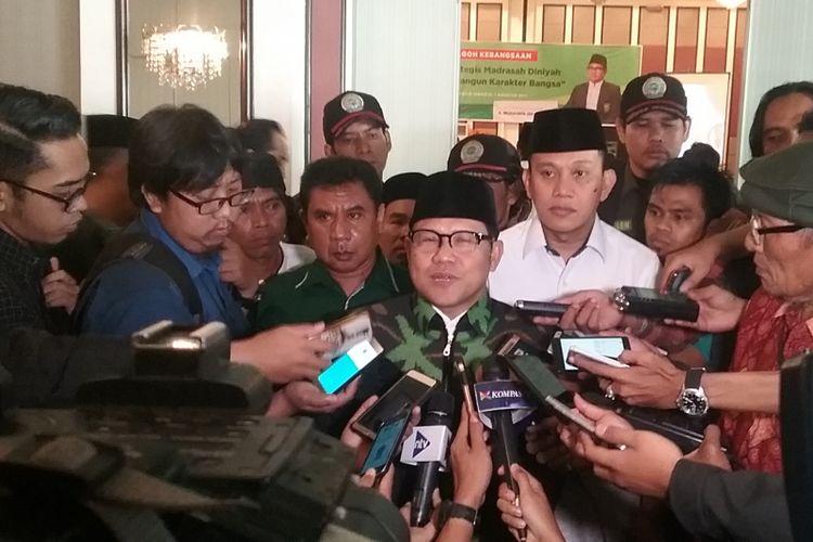 Ketua Umum Dewan Pimpinan Pusat Partai Kebangkitan Bangsa (PKB) Muhaimin Iskandar di Jakarta, Senin (7/8/2017).