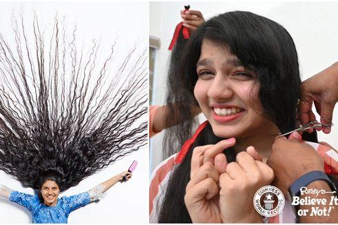Gadis Pemegang Rekor Dunia, Potong 2 Meter Rambut Setelah 12 Tahun
