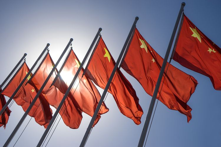 Ilustrasi bendera China.