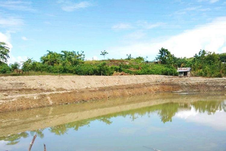 Potret embung yang dibangun Kementerian Pertanian (Kementan) bagi Kelompok Tani (Poktan) Jarae di Desa Ciromani, Kecamatan Keera, Kabupaten Wajo, Sumatera Selatan (Sumsel).