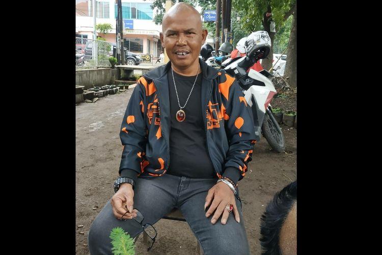 Kang Pipit alias Ica Naga, pemain sinetron dan film Preman Pensiun.