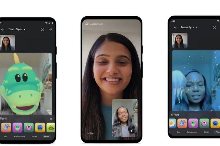 Filter dan efek terbaru dari Google Meet yang bisa digunakan saat melakukan panggilan dengan teman