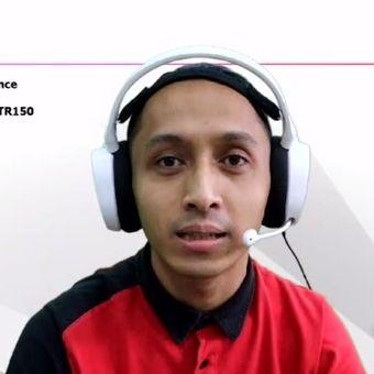 Andryan Pranata, Assistant Marketing Manager, Canon Division, pt Datascrip, di acara peluncuran Pixma TR150 yang digelar Datascrip secara online, Kamis (18/6/2020).