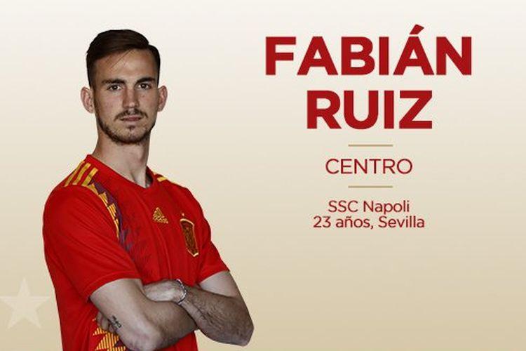Gelandang Napoli dan Timnas Spanyol, Fabian Ruiz.