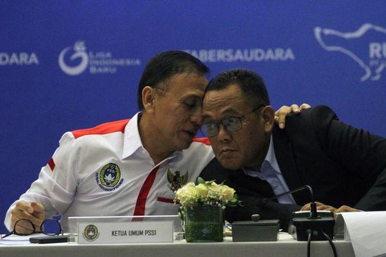 Ketua Umum PSSI, Mochamad Iriawan, dan Direktur PT LIB, Cucu Soemantri.