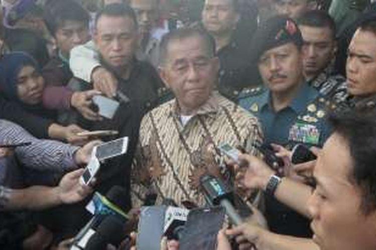 Menteri Pertahanan Ryamizard Ryacudu saat ditemui di silang Monas, Jakarta Pusat, Selasa (23/8/2016).