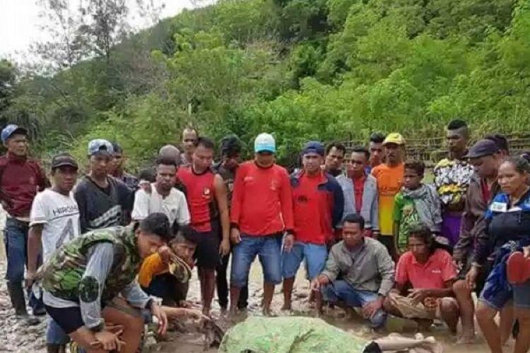Jasad Naomi Adu yang terseret banjir di Kabupaten Belu, NTT ditemukan warga setempat