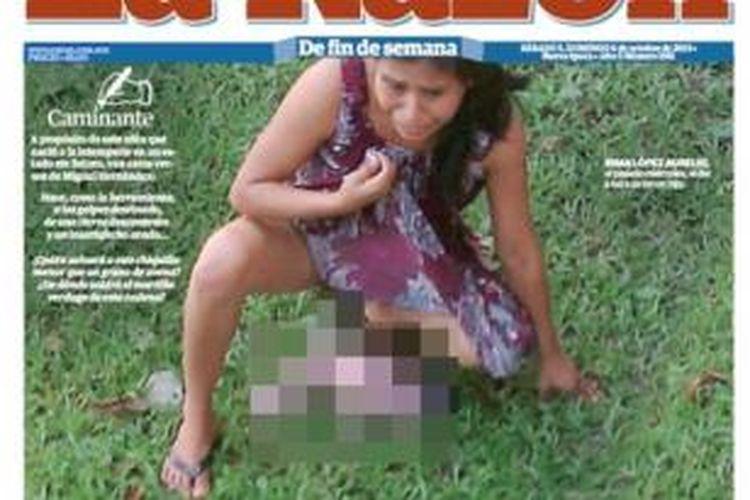 Inilah foto Irma Lopez sesaat setelah melahirkan yang diambil seorang warga  San Felipe Jalapa de Diaz, Meksiko. Foto ini kemudian menyebar di berbagai media nasional Meksiko yang memicu kemarahan nasional terkait perlakuan semena-mena pihak rumah sakit.