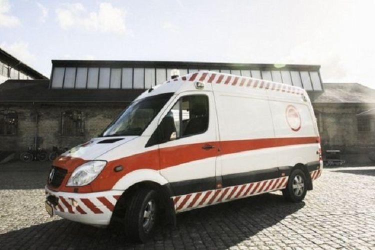 Ilustrasi mobil ambulans
