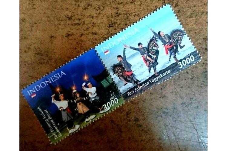 Dua tarian Indonesia jadi ikon perangko 2021.