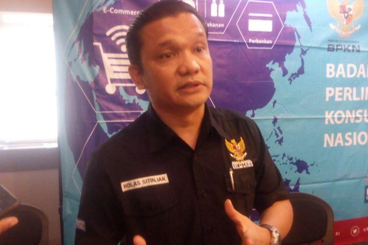 Wakil Ketua Badan Perlindungan Konsumen Nasional (BPKN), Rolas Budiman Sitinjak ditemui di kantor Kementerian Perdagangan, Jakarta Pusat, Senin (17/12/2018).