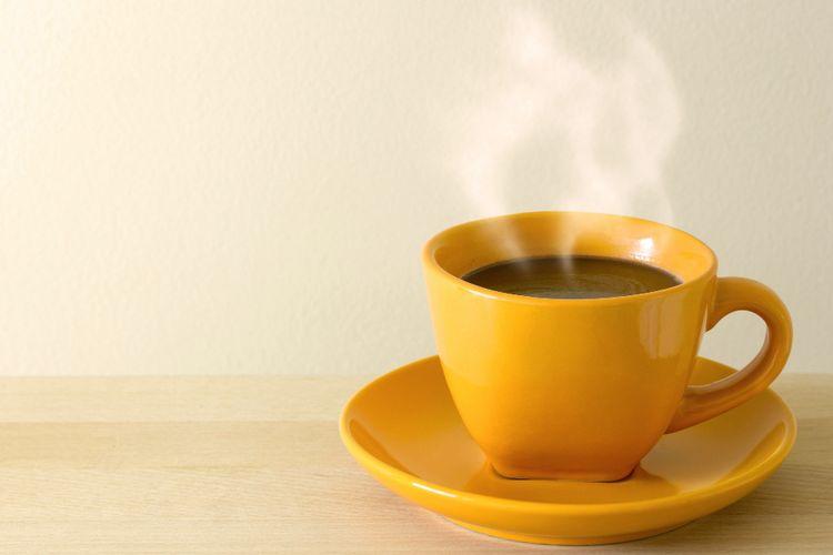 Ilustrasi kopi panas.