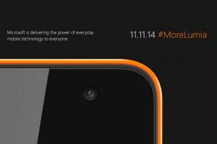Teaser untuk Lumia yang akan hadir di 11 November 2014.