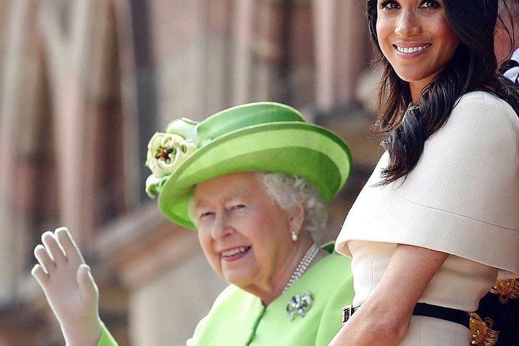 Tim Ratu Inggris mengunggah foto Ratu bersama Meghan Markle di hari ulang tahun ke-39 Meghan.