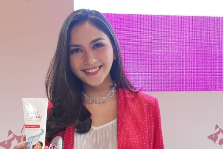 Jessica Milla menghadiri acara Press Confrence Fair & Lovely Bintang Beasiswa 2020, dikawasan Kebayoran Baru, Jakarta Selatan, Jumat (24/01/2020)