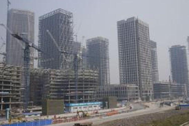 Proyek-proyek replika Manhattan di Tianjin, Tiongkok.