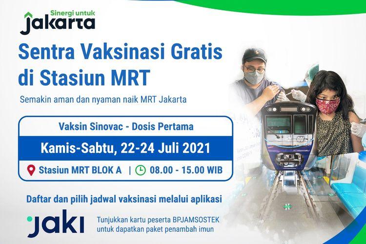 Jadwal pelaksanaan vaksinasi MRT Jakarta