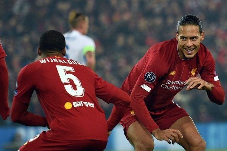 Duet sesama pemain asal Belanda di Liverpool, Georginio Wijnaldum dan Virgil van Dijk.