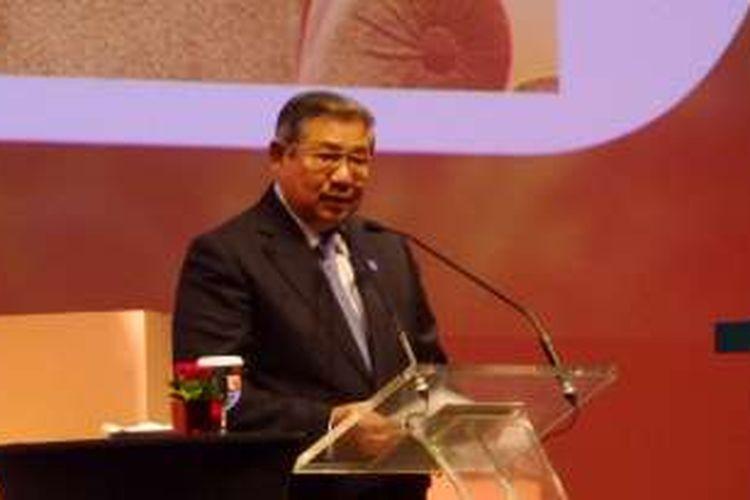 Presiden keenam RI Susilo Bambang Yudhoyono dalam sambutannya di acara