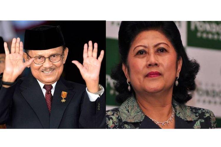 BJ Habibie (kiri) dan Ani Yudhoyono (kanan)