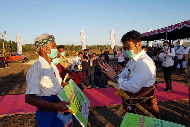 Menteri Pertanian Syahrul Yasin Limpo meresmikan food estate di Desa Umbul Pabal Kecamatan Umbu Rato Nggai Barat, Sumba Tengah, Selasa (22/9/2020).