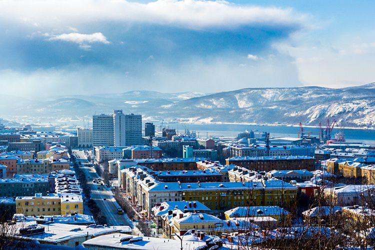 Kota Murmansk di Negara Russia.