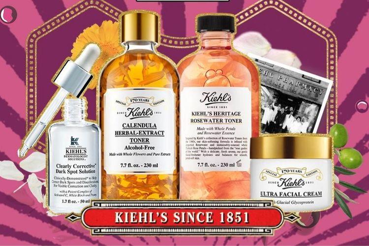 Dalam perayaan ulang tahun ke 170 tahun, Kiehls meluncurkan edisi terbatas dari produk-produk unggulan dengan kemasan khusus.