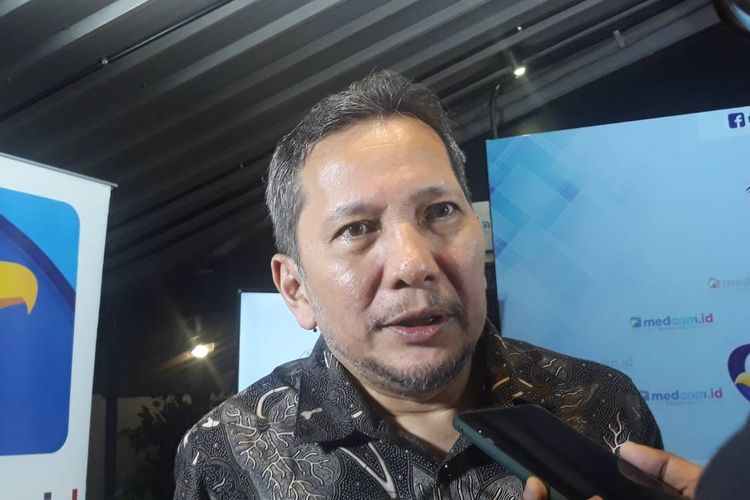 Anggota Ombudsman RI Ahmad Alamsyah Saragih usai sebuah diskusi di kawasan Menteng, Jakarta Pusat, Minggu (8/3/2020).