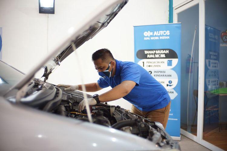 OLX Autos menerapkan protokol kesehatan untuk staf inspeksi agar konsumen lebih aman dan nyaman (Dok. OLX Autos)