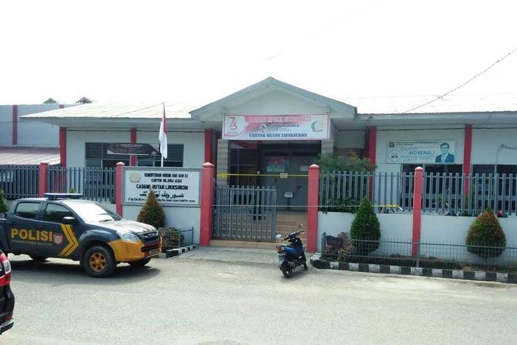 Rumah Tahanan (Rutan) Lhoksukon di Desa Kampung Baru, Kecamatan Lhoksukon, Kabupaten Aceh Utara, Senin (17/6/2019)