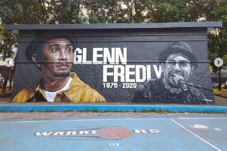 Mural Glenn Fredly di Lapangan Basket YPK, Panglima Polim, Jakarta Selatan.
