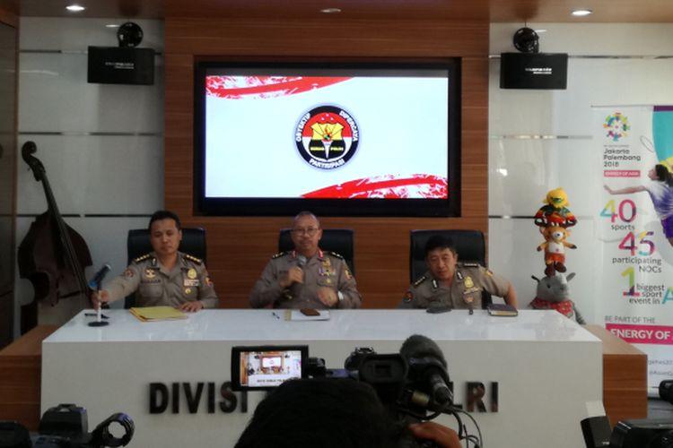 Kepala Divisi Humas Polri Irjen Pol Setyo Wasisto, di Mabes Polri, Jumat (11/8/2018).