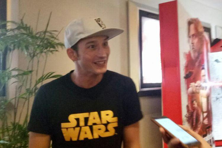 Mike Lewis saat ditemui di screening film Star Wars: The Last Jedi di Mall Kelapa Gading, Jakarta Utara, Selasa (12/11/2017).