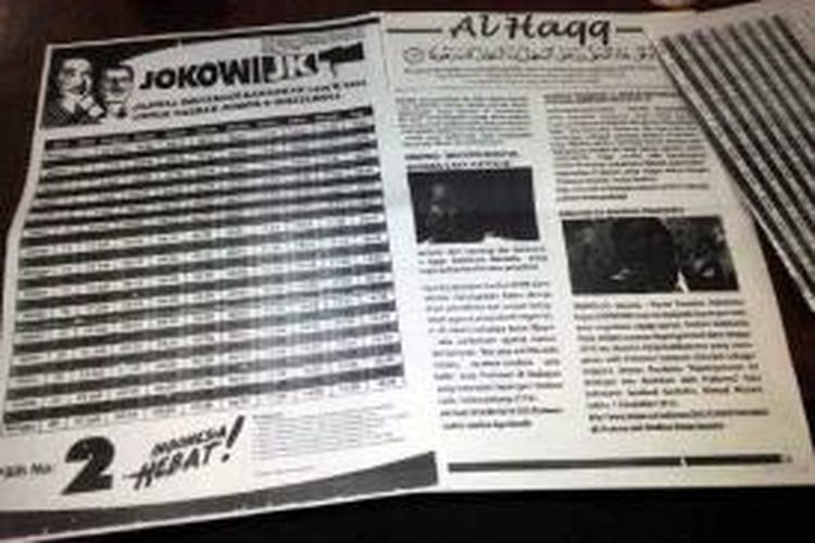 Inilah Jadwal Imsakiyah bergambar pasangan Jokowi- JK, dan buletin