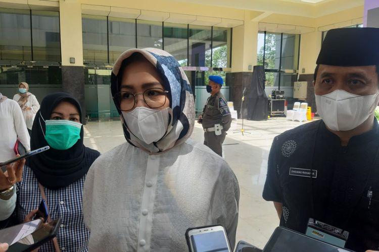 Wali kota Tangerang Selatan Airin Rachmi Diany saat ditemui di Gedung Balai Kota Tangerang Selatan, Rabu (25/11/2020)