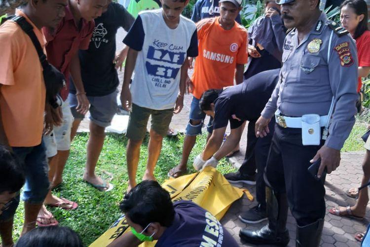 Korban sesaat sebelum dievakuasi ke RSUP Sanglah Denpasar, Selasa (5/11/2019).
