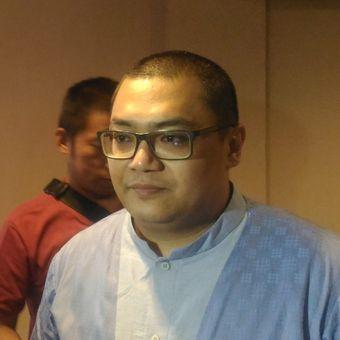 Direktur Eksekutif Median Rico Marbun saat pemaparan hasil survei di bilangan Cikini, Jakarta Pusat, Senin (21/1/2019).