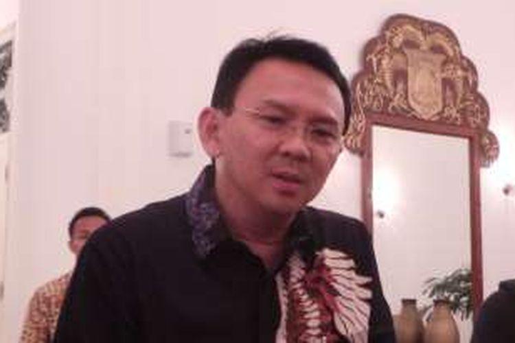 Gubernur DKI Jakarta Basuki Tjahaja Purnama atau Ahok saat wawancara wartawan di Balai Kota, Kamis (19/5/2016).