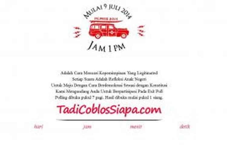 TadiCoblosSiapa.com