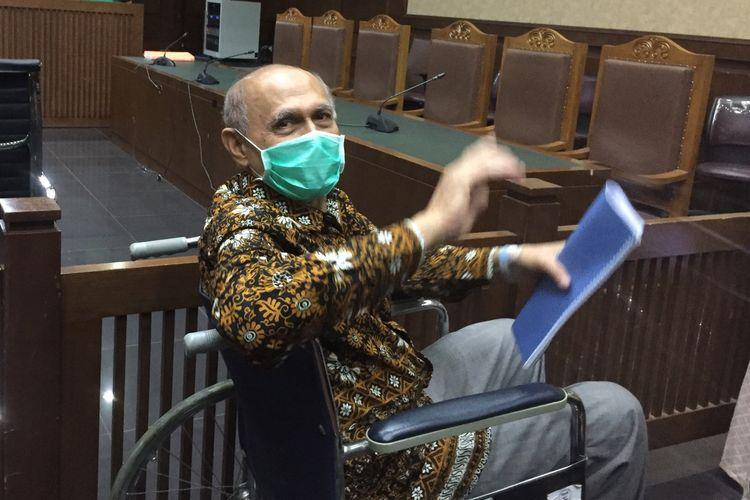 Kivlan Zen saat hadiri sidang eksepsi di Pengadilan Negeri Jakarta Pusat, Kamis  (3/10/2019).