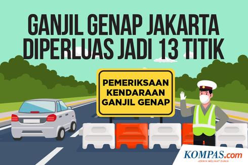 Berlaku Hari Ini, Ini 13 Lokasi Ganjil Genap di Jakarta